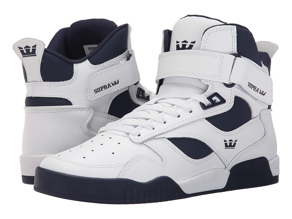 Supra Bleeker White/Navy/Navy Mens Skate Shoes
