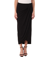 Three Dots - Pleated Drape Maxi Skirt