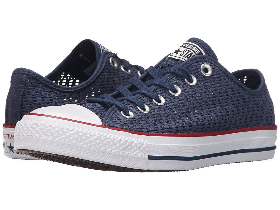 Converse Chuck Taylor All Star Crochet Ox Navy/White/Black Womens Shoes