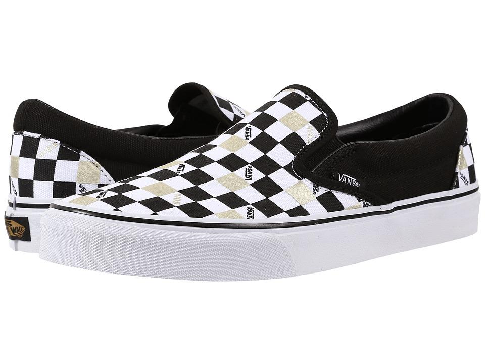 Vans Classic Slip On 50th Black/Gold/Checker Skate Shoes