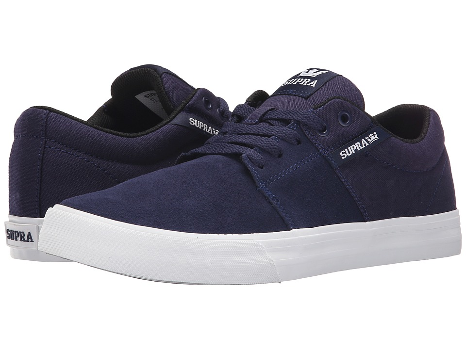Supra Stacks Vulc II Navy/White Mens Skate Shoes