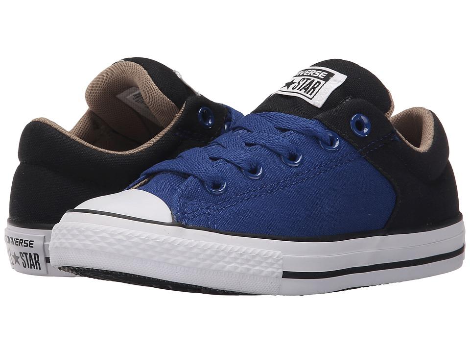Converse Kids Chuck Taylor All Star High Street Slip Little Kid/Big Kid Roadtrip Blue/Black/Sandy Boys Shoes