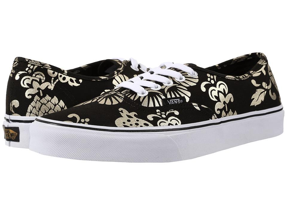 Vans - Authentic ((50th) Duke/Black/Gold Foil) Skate Shoes