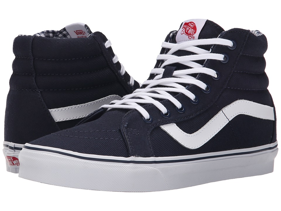 Vans SK8 Hi Reissue Twill amp Gingham Dress Blues/True White Skate Shoes