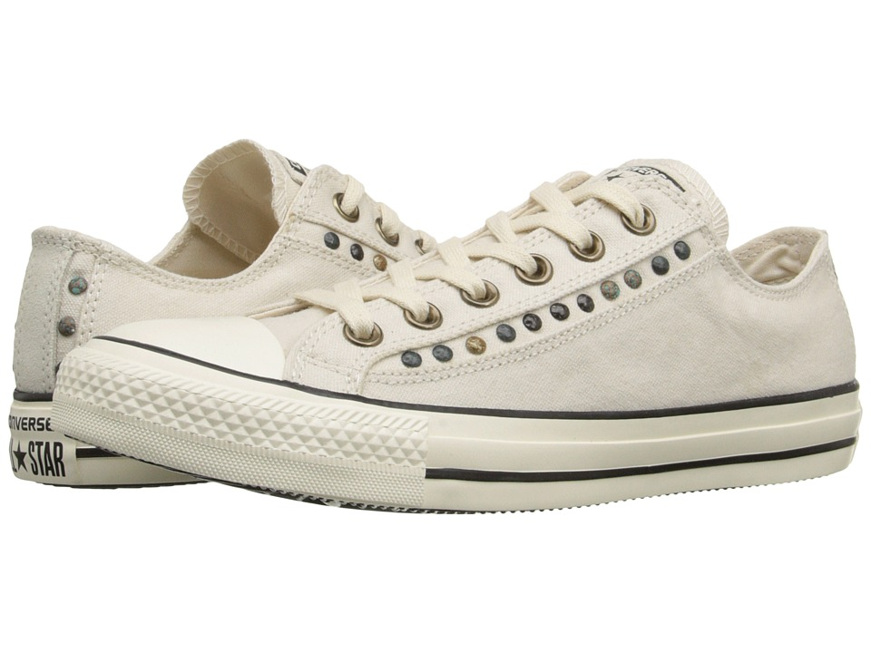 Converse Chuck Taylor All Star Eyerow Cutout Ox Parchment/Egret/Black Womens Lace up casual Shoes