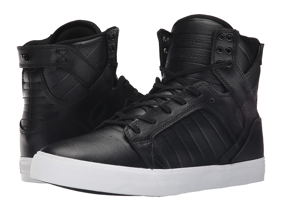 Supra Skytop (Black/White) Men's Skate Shoes