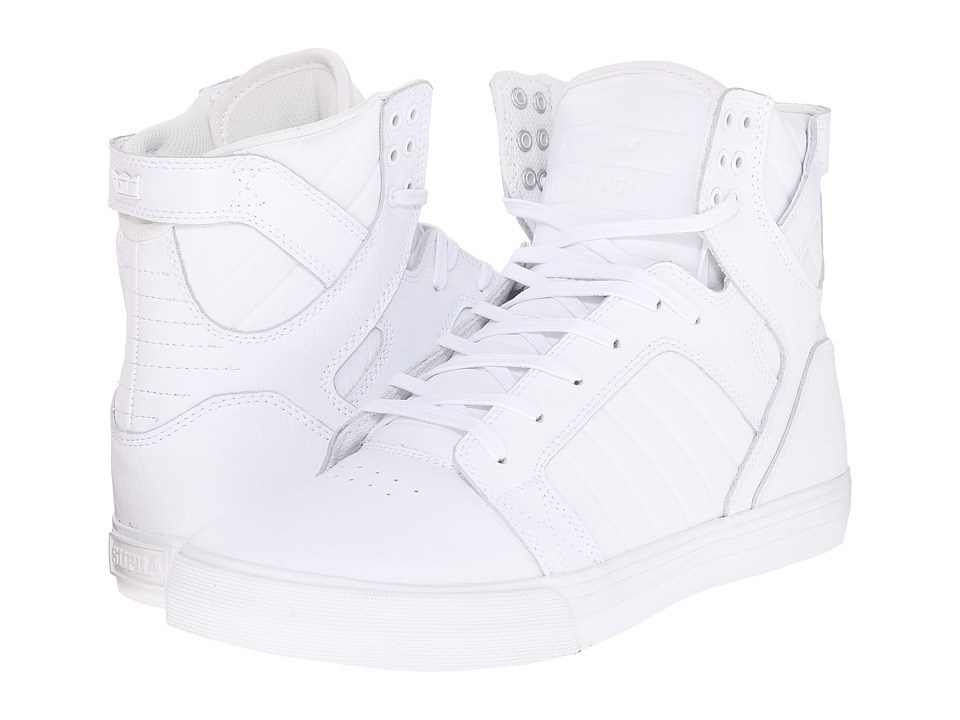 Supra Skytop (White/White/Red/White) Men