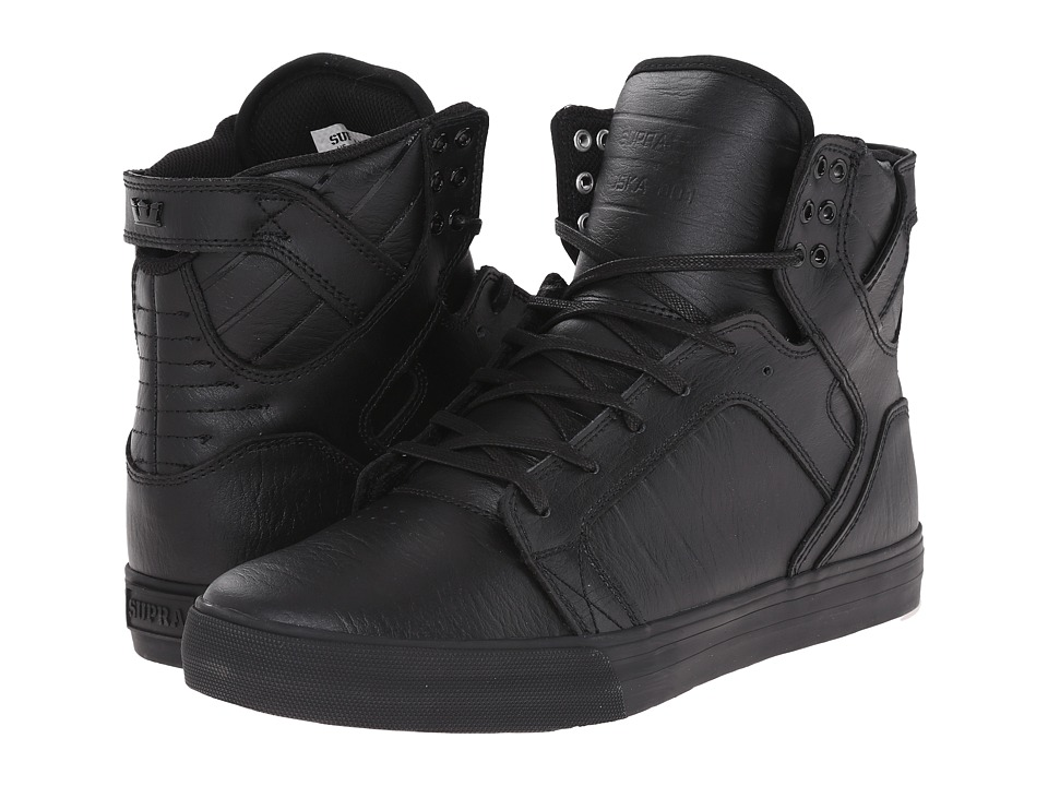 Supra Skytop (Black/Black/Red) Men's Skate Shoes