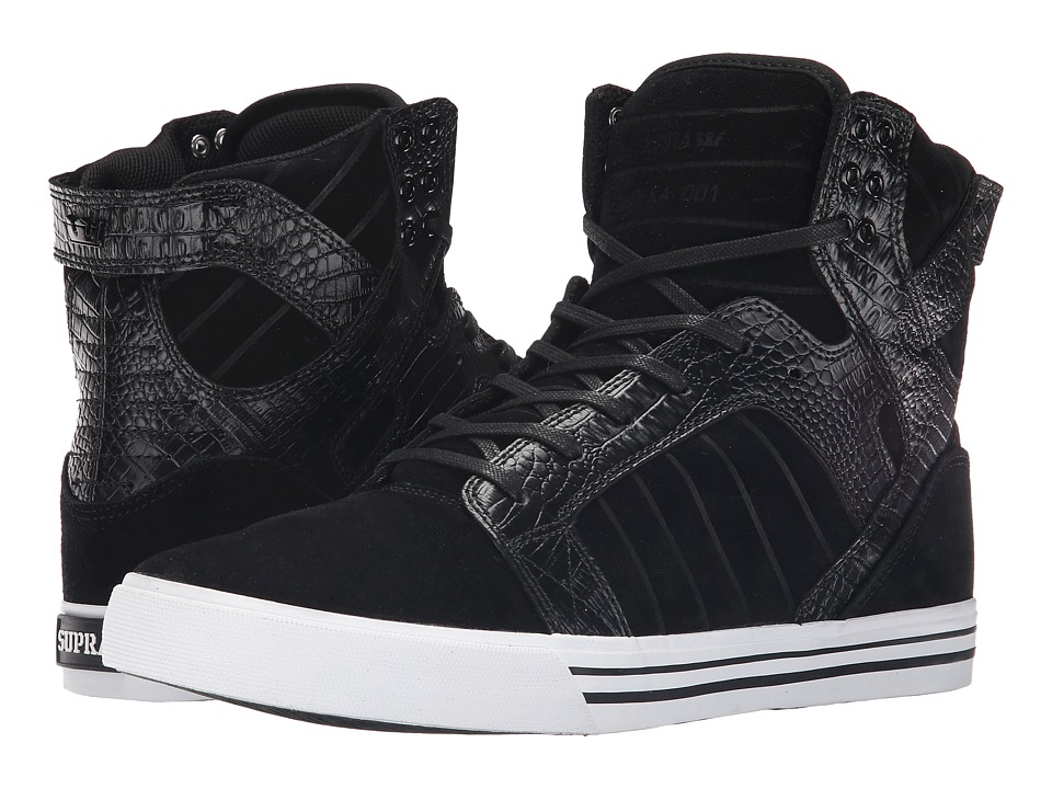 Supra Skytop (Black/Croc/White) Men's Skate Shoes
