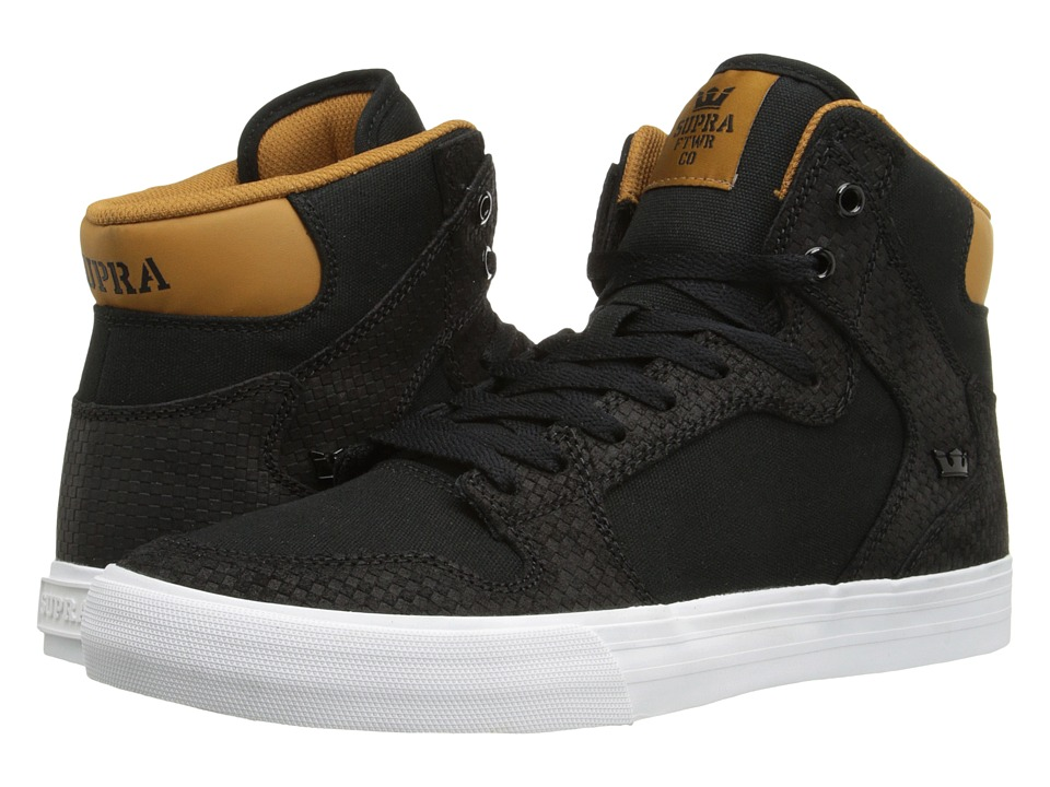Supra - Vaider (Black/Cathay Spice/White) Skate Shoes