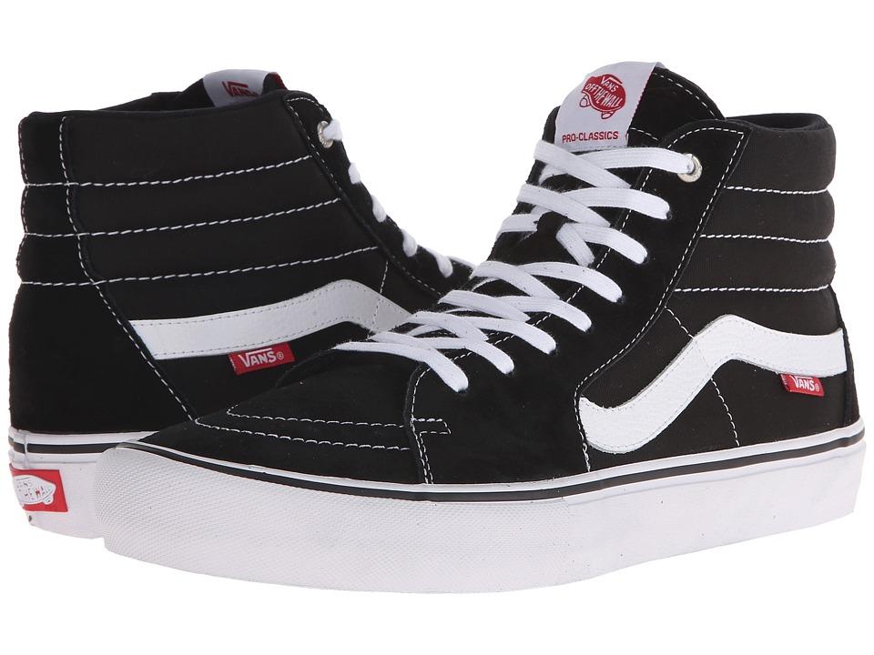 Vans - SK8-Hi Pro (Black/White) Mens Skate Shoes