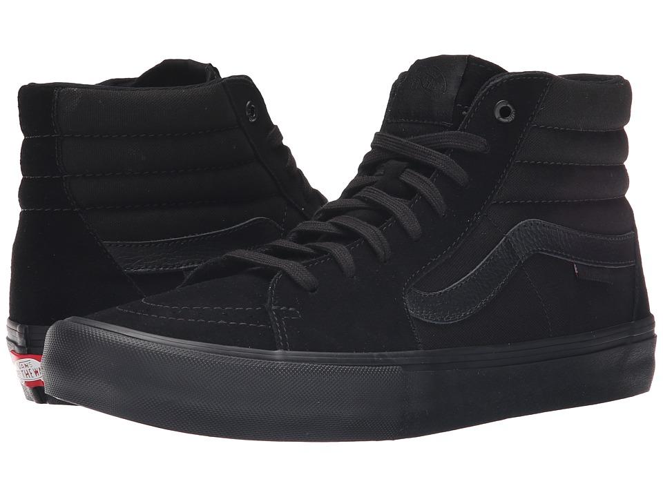 Vans Sk8 Hi Pro Blackout Mens Skate Shoes