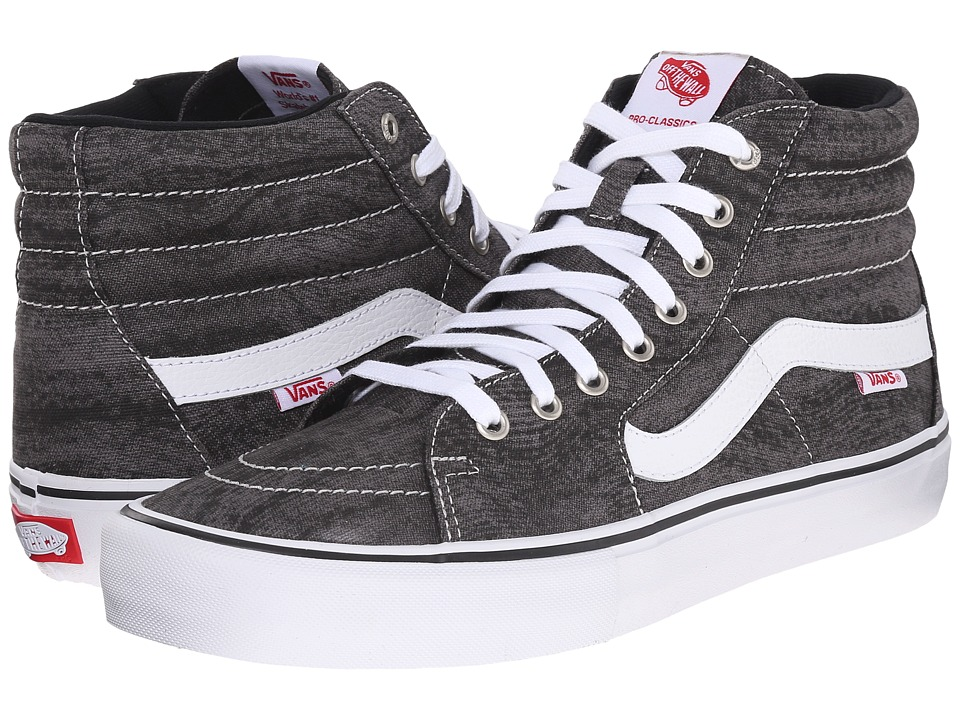 Vans - SK8-Hi Pro ((Distortion) Black/White) Men