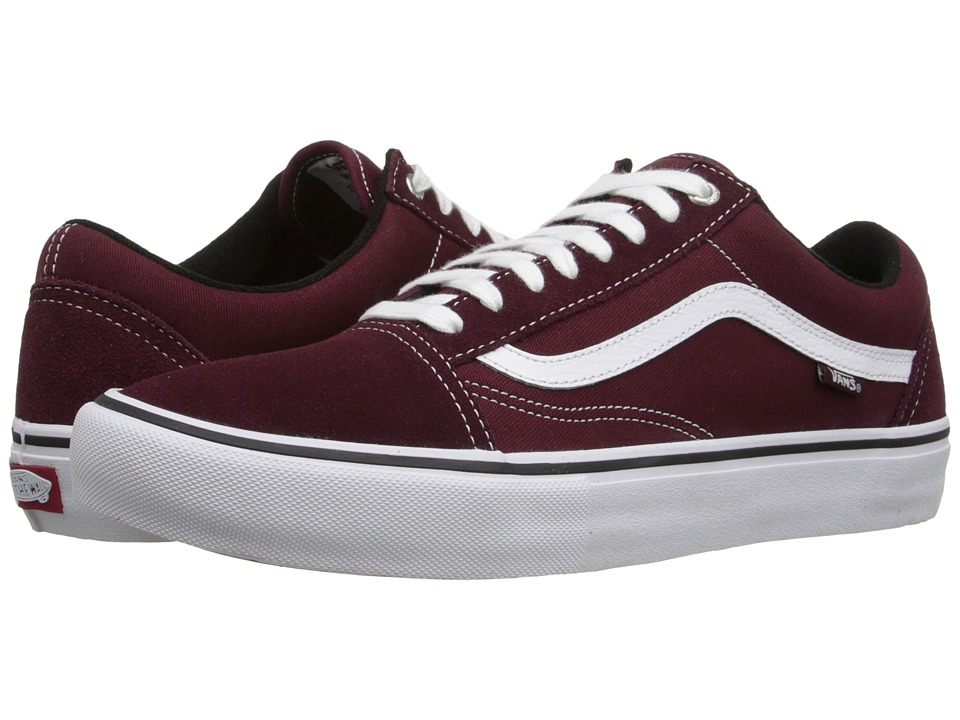 Vans Old Skool Pro Port/White Mens Skate Shoes