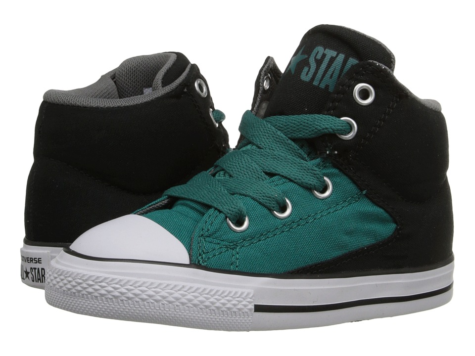 Converse Kids Chuck Taylor All Star High Street Infant/Toddler Rebel Teal/Black/White Boys Shoes