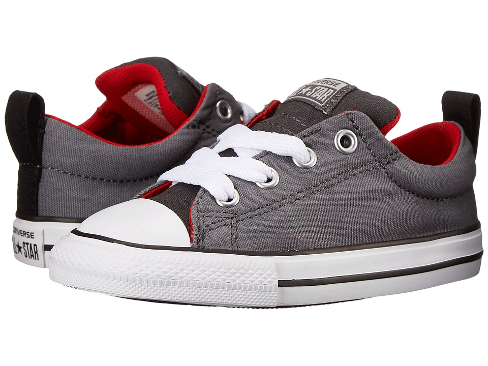 Converse Kids Chuck Taylor All Star Street Slip Infant/Toddler Storm Wind/Casino/Thunder Boys Shoes
