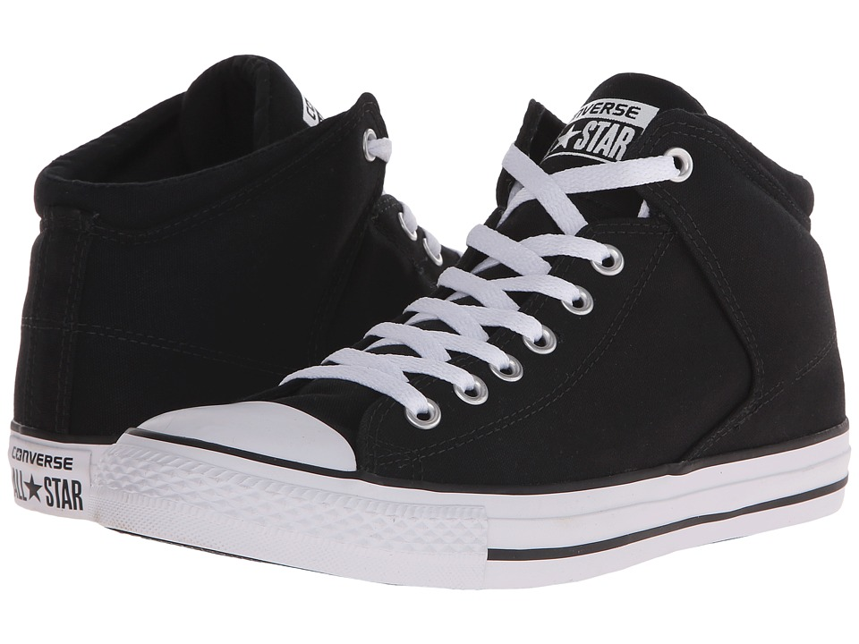 Converse Chuck Taylor All Star Hi Street Canvas Black/Black/White Mens Lace up casual Shoes