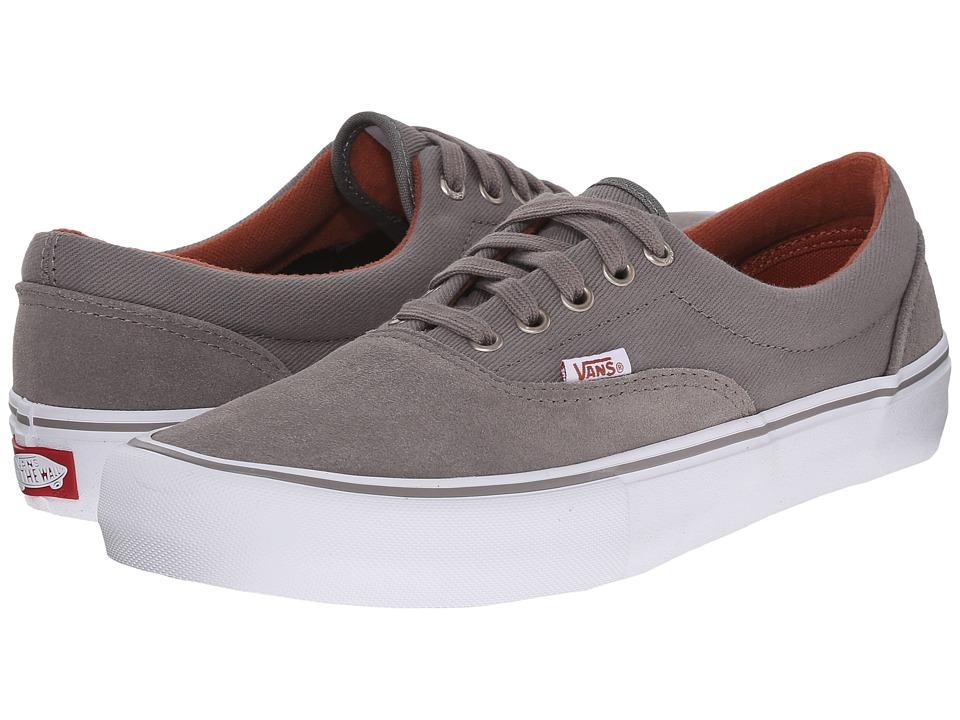 Vans Era Pro Brushed Nickle/White Mens Skate Shoes