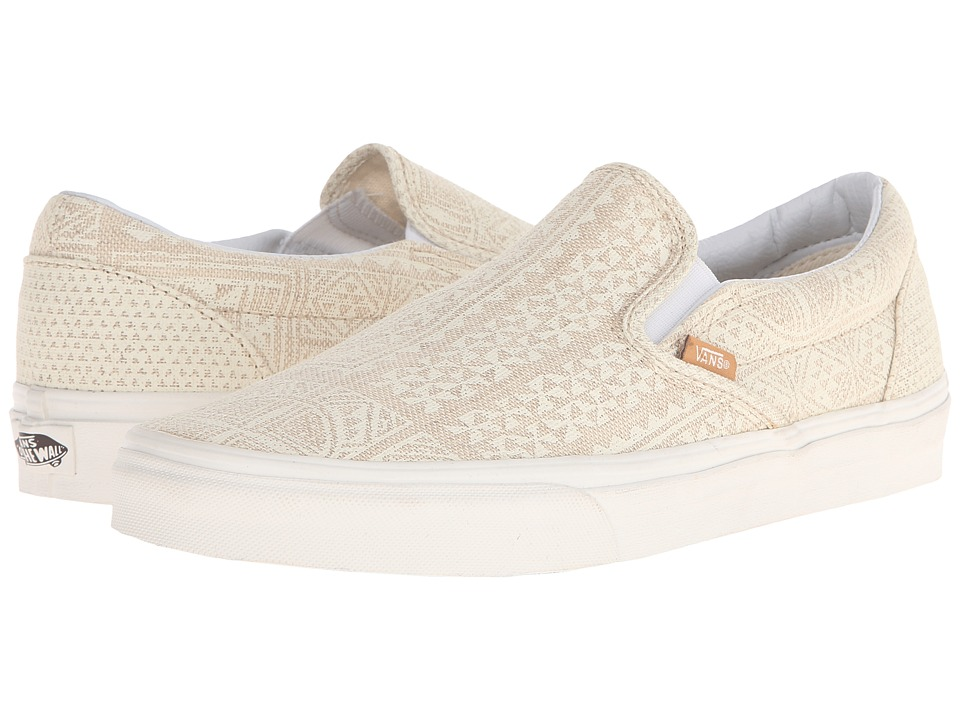 Vans Classic Slip On Pacific Isle Natural/Blanc de Blanc Skate Shoes