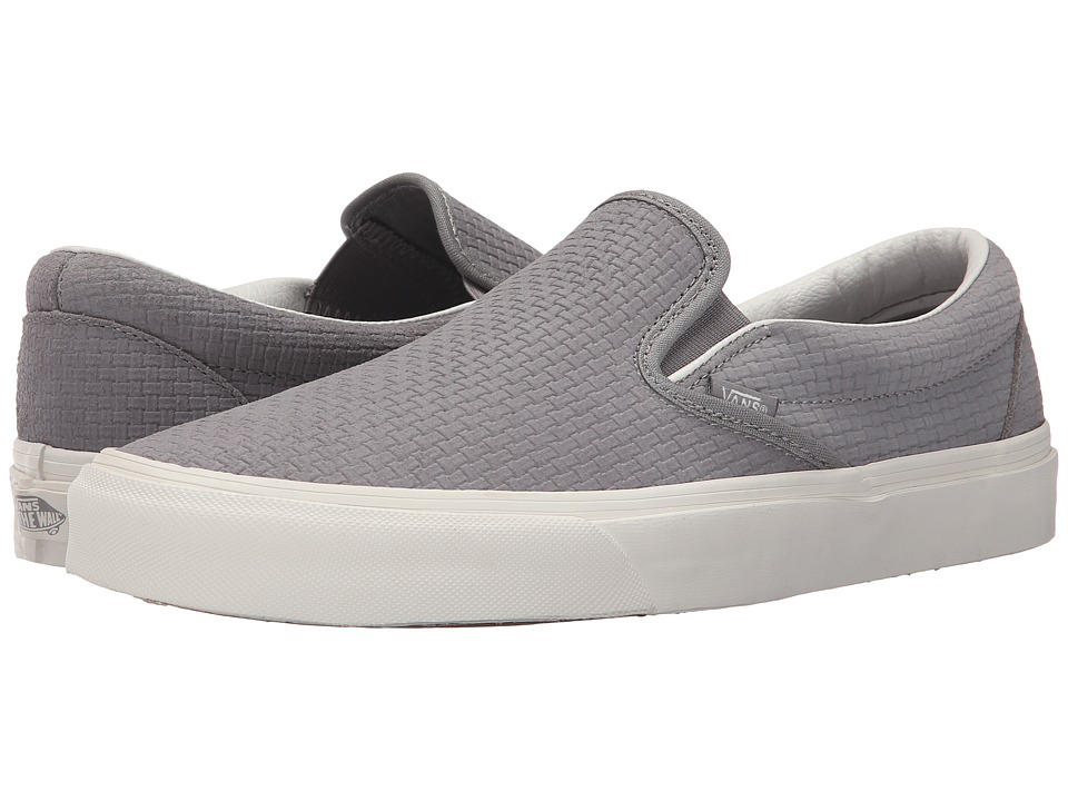 Vans Classic Slip-On ((Braided Suede) Wild Dove) Skate Shoes