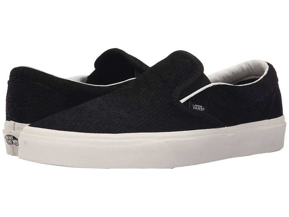 Vans Classic Slip-On ((Braided Suede) Black) Skate Shoes