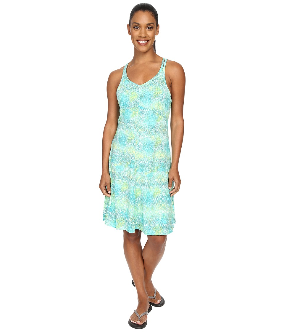 ExOfficio Wanderlux Tank Dress Deep Sea Print Womens Dress