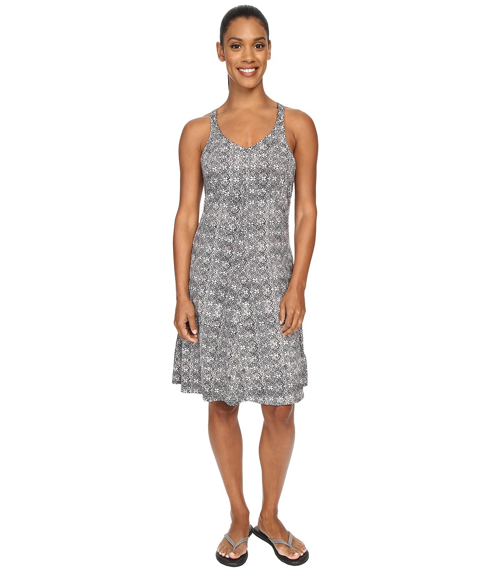 ExOfficio Wanderlux Tank Dress Dark Pebble Print Womens Dress