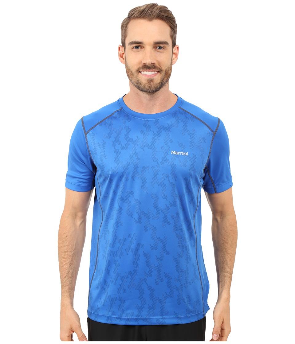 Marmot Elevate Short Sleeve True Blue Mens Short Sleeve Pullover