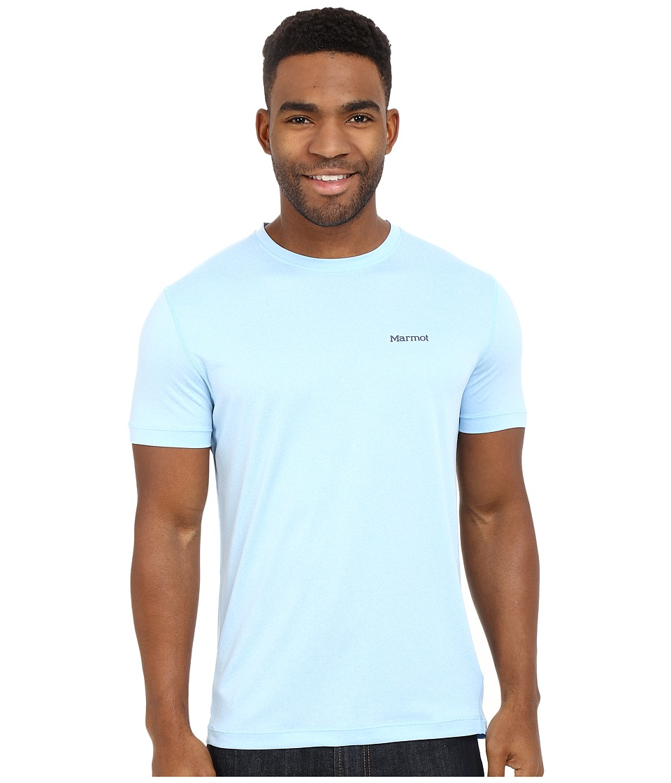 Marmot - Conveyor S/S Tee (Light Blue Heather) Men
