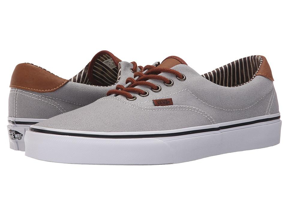 Vans Era 59 CampL Silver Sconce/Stripe Denim Skate Shoes
