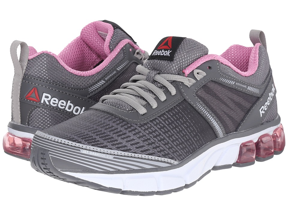 Reebok - Jet Dashride 2.0 (Alloy/Tin Grey/Icono Pink/White) Womens Running Shoes