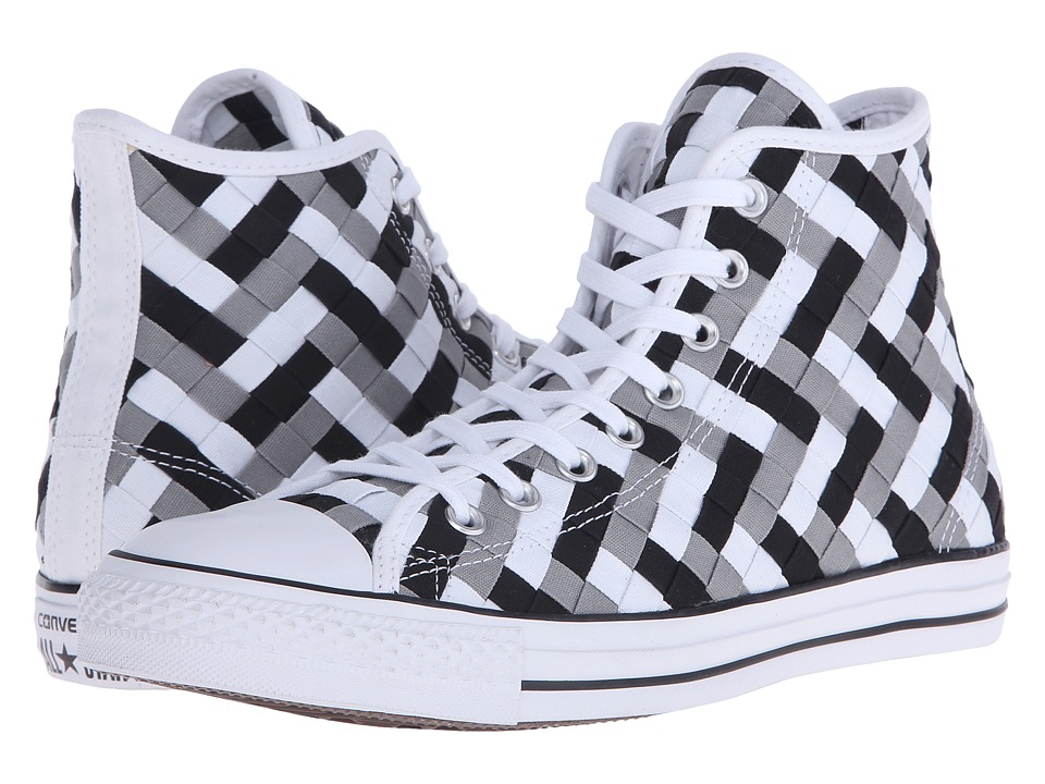 Converse Chuck Taylor All Star Woven Hi Dolphin/Black/White Athletic Shoes