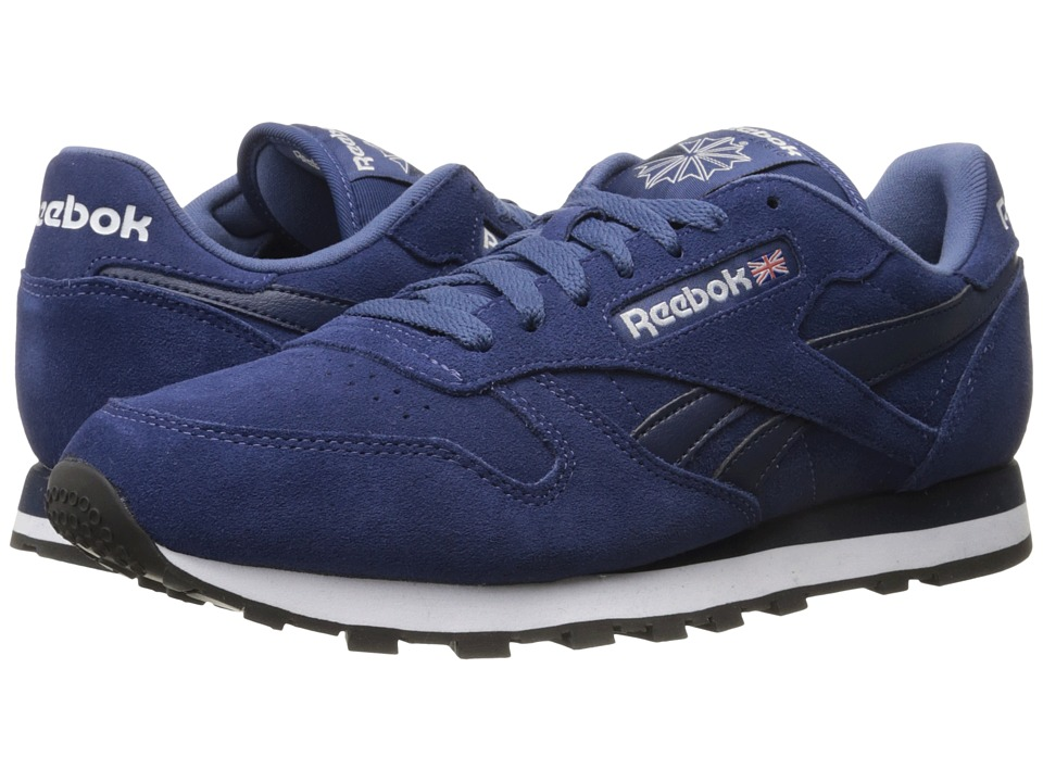 Reebok Lifestyle Classic Leather Suede Midnight Blue/Collegiate Navy/White/Black Mens Classic Shoes
