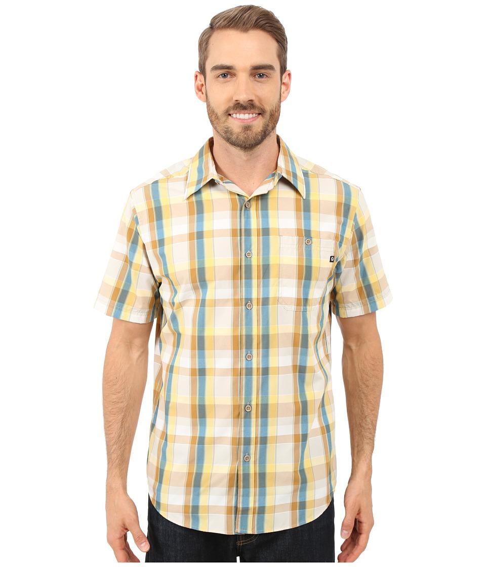 Marmot Asheboro Short Sleeve Yellow Light Mens Short Sleeve Button Up