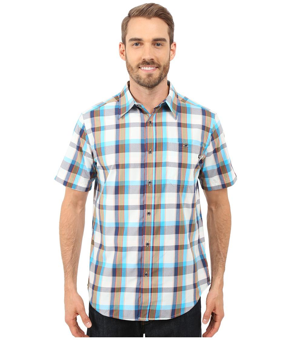 Marmot Asheboro Short Sleeve Stellar Blue Mens Short Sleeve Button Up