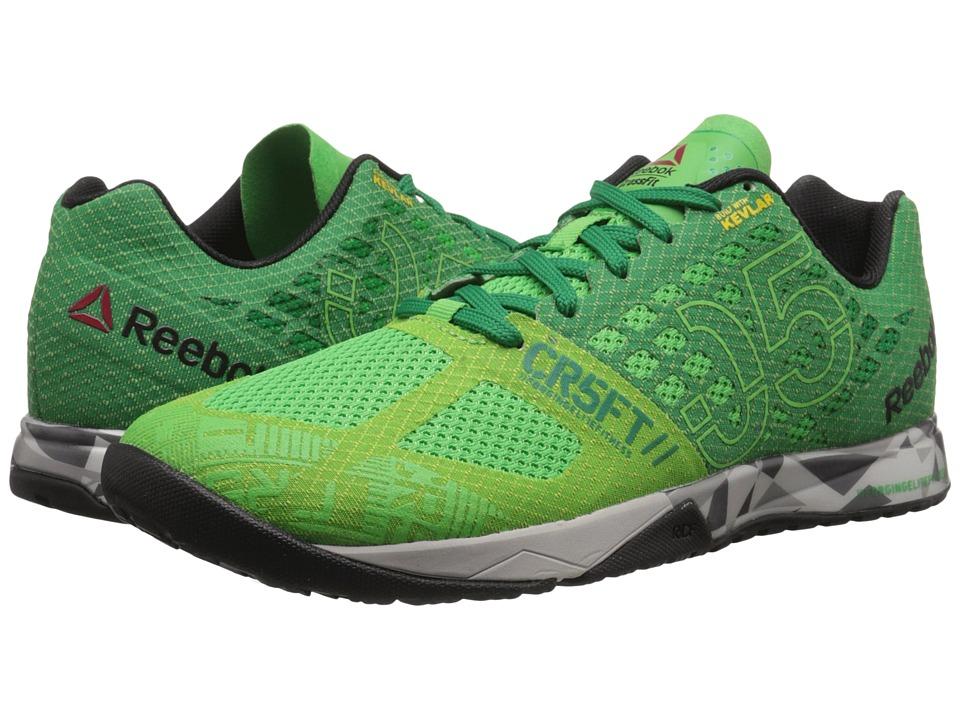 Reebok - CrossFit Nano 5.0 (Bright Green/Basil Green/Steel/Tin Grey/Black/Shark) Men