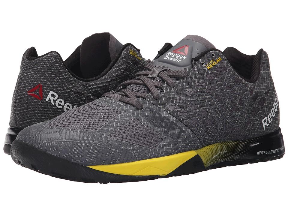 Reebok - CrossFit Nano 5.0 (Shark/Ash Grey/Black/Yellow Spark/Tellow Filament) Men