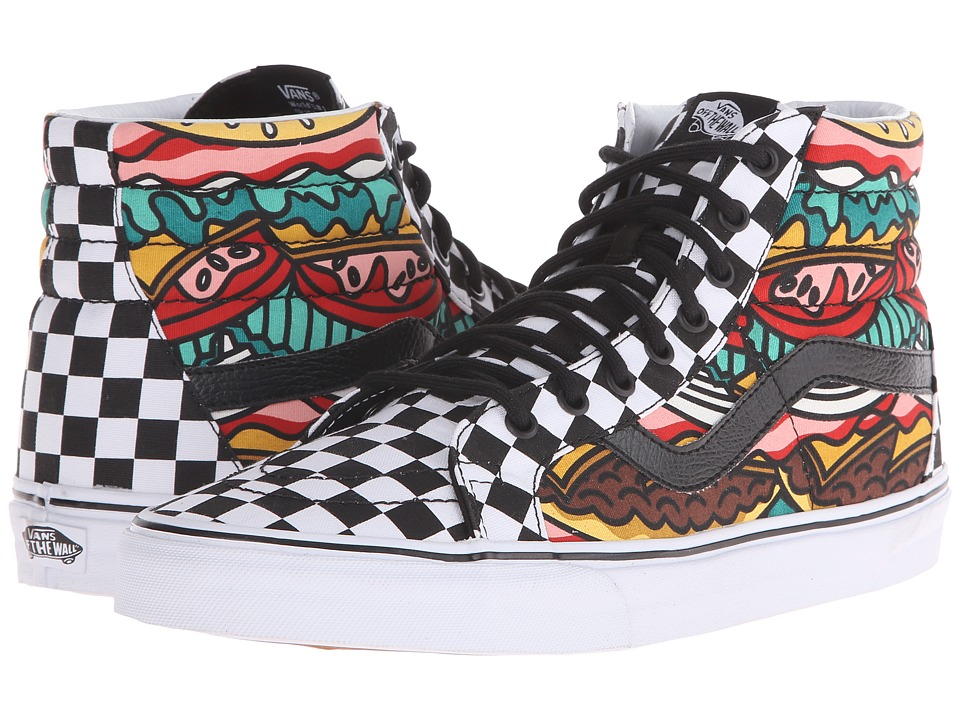 Vans SK8 Hi Reissue Late Night Burger/Check Skate Shoes