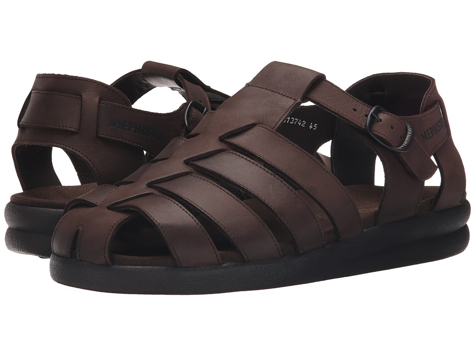 Mephisto - Sam (Dark Brown Oldbrush) Men's Sandals
