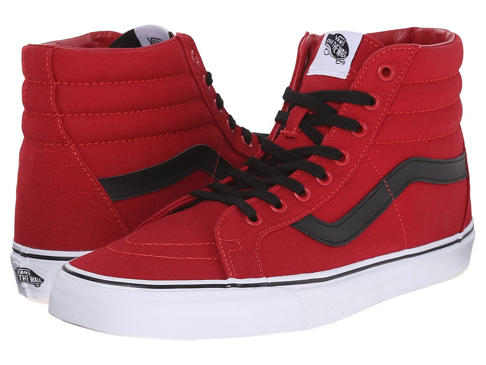 Vans SK8 Hi Reissue Canvas Chili Pepper/Black Skate Shoes