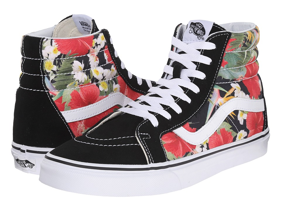 Vans SK8 Hi Reissue Digi Aloha Black/True White Skate Shoes