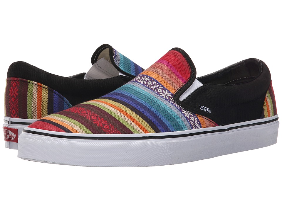 Vans Classic Slip On Baja Multi/Black Skate Shoes