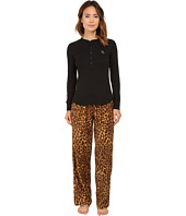 LAUREN Ralph Lauren - Folded Knit Top/Woven Pants PJ Set
