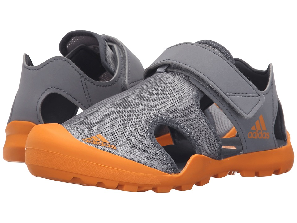 adidas Outdoor Kids Captain Toey Toddler/Little Kid/Big Kid Grey/EQT Orange/Onix Boys Shoes