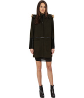 ZAC Zac Posen - Parker Mixed Media Zip Wool Coat