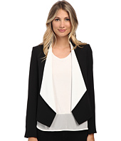 Calvin Klein - Ruffle Front Open Soft Suiting Jacket