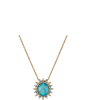 Alexis Bittar - Clear Crystal w/ Howlite Turquoise Doublet, Crystal Accent Necklace