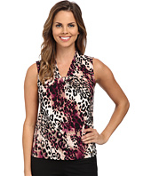 Calvin Klein - Leopard Animal Print Knot Front Cami