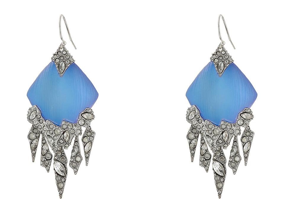 Alexis Bittar Chandelier Wire Earrings Iridescent Ice Blue Earring