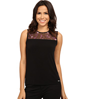 Calvin Klein - Sleeveless Cami with Lace Neck Detail